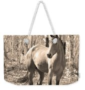 Beautiful Horse In Sepia Weekender Tote Bag by James BO  Insogna