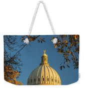 Beautiful Idaho State Capitol In Autumn Morning Weekender Tote Bag