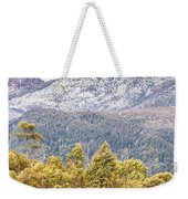 Beautiful Landscape With Partly Snowed Mountain  Weekender Tote Bag