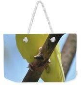 Beautiful Little Yellow Budgie Bird In Nature Weekender Tote Bag