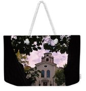 Beautiful Mason Hall - Pomona College - Trees Framing Weekender Tote Bag