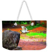 Beautiful Moment With A Bird Take Off , Wall Frame, Art Weekender Tote Bag