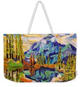 Beautiful Mountainous Reflection  Weekender Tote Bag