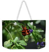 Beautiful Oak Tiger Butterfly On Purple Flowers Weekender Tote Bag