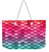 Beautiful Pastel Diagonal Rainbow Spectrum II Mermaid Fish Scales Weekender Tote Bag