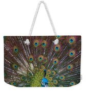 Beautiful Peacock Weekender Tote Bag
