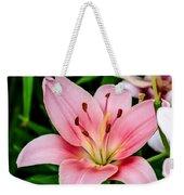 Beautiful Pink Lily Weekender Tote Bag