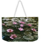 Beautiful Pink Lotus Water Lilies Bloom Weekender Tote Bag