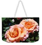 Beautiful Pink Orange Rose Flowers Garden Baslee Troutman  Weekender Tote Bag