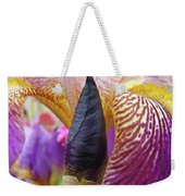 Beautiful Purple Iris Flowwer Floral Art Print Baslee Troutman Weekender Tote Bag
