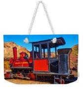 Beautiful Red Calico Train Weekender Tote Bag