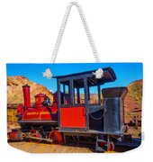 Beautiful Red Calico Train Weekender Tote Bag