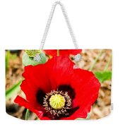 Beautiful Red Poppy Weekender Tote Bag