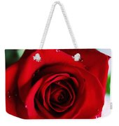 Beautiful Red Rose Abstract 3 Weekender Tote Bag