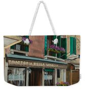 Beautiful Restaurant In Venice Weekender Tote Bag by Charlotte Blanchard
