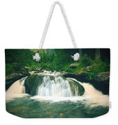 Beautiful River Flowing In Mountain Forest Weekender Tote Bag