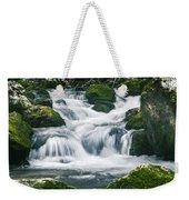 Beautiful River In Forest Weekender Tote Bag