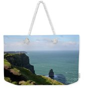 Beautiful Rocky Towering Sea Cliffs Along The Cliff's Of Moher Weekender Tote Bag