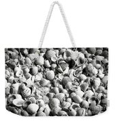 Beautiful Seashells Black And White Weekender Tote Bag