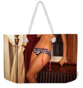 Beautiful Sexy Woman At A Window Weekender Tote Bag