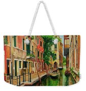 Beautiful Side Canal In Venice Weekender Tote Bag