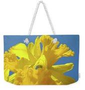 Beautiful Spring Daffodil Bouquet Flowers Blue Sky Art Prints Baslee Troutman Weekender Tote Bag