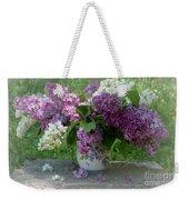 Beautiful Spring Flowers In A Vase Weekender Tote Bag
