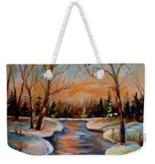 Beautiful  Spring Thaw Weekender Tote Bag