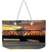 Beautiful Sunset Bridge  Weekender Tote Bag