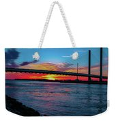 Beautiful Sunset Under The Bridge Weekender Tote Bag
