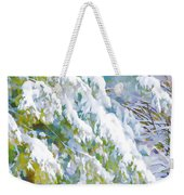 Beautiful Trees Covered With Snow In Winter Park Weekender Tote Bag