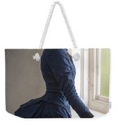 Beautiful Victorian Woman At The Window In A Blue Bussle Dress Weekender Tote Bag