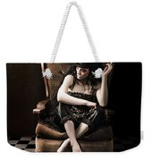 Beautiful Vintage Fashion Girl In Grunge Interior Weekender Tote Bag by Jorgo Photography - Wall Art Gallery