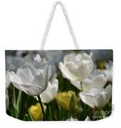 Beautiful White Tulips Weekender Tote Bag