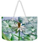 Beautiful White Water Lilies Flower Weekender Tote Bag