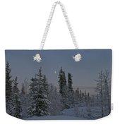 Beautiful Winter Evening Weekender Tote Bag