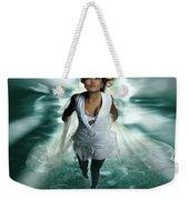 Beautiful Woman Diving In The Water Weekender Tote Bag