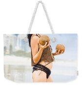 Beautiful Woman In Beach Heaven Weekender Tote Bag