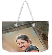 Beautiful Woman Weekender Tote Bag