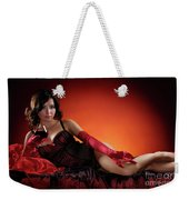 Beautiful Woman With A Glass Of Wine Weekender Tote Bag