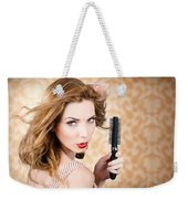 Beautiful Woman With Short Red Hair. Hairdressing Weekender Tote Bag