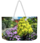 Beautiful Yellow Flowers On A Garden Background Weekender Tote Bag