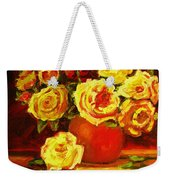 Beautiful Yellow Roses Weekender Tote Bag