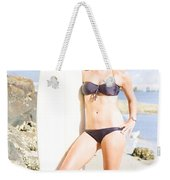 Beautiful Young Blond Surf Woman Weekender Tote Bag