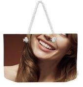Beautiful Young Smiling Woman Weekender Tote Bag
