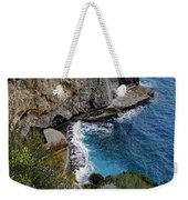 Beautifully Carved Out Swimming Deck On The Edge Of The Sea On The Amalfi Coast In Italy  Weekender Tote Bag