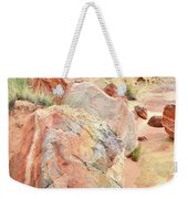 Beautifully Colored Boulders In Wash 3 - Valley Of Fire Weekender Tote Bag