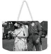 Beauty And The Cowboy Weekender Tote Bag