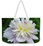 Beauty Can't Be Dampened - Festiva Maxima Double Peony Weekender Tote Bag