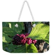 Beautyberry 2 Weekender Tote Bag